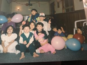 Azlan Nur Saidy with his friends growing up during Ramadan.